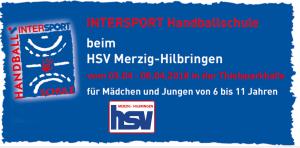 HSV: Intersport-Handball-Schule kommt 2018 wieder !